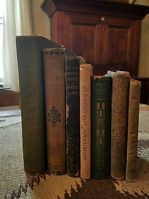 Antique English books in good condition; 8 books from late 1800s - early 1920s