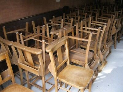 OLD CHURCH PEW CHAIRS. For dining / pub / cafe / restaurant. DELIVERY POSS.