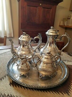 Silver plated 5 piece coffee/tea set