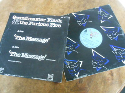 "2 X Hip Hop 12"" Vinyl Grandmaster Flash  The Message + Melle Mel White Lines"