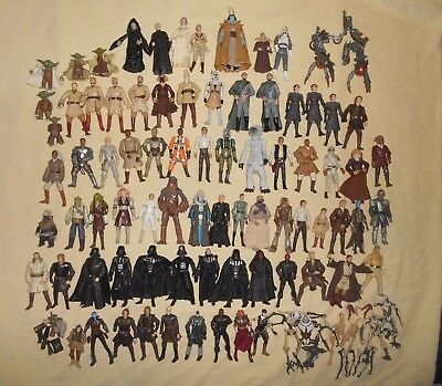 Huge Lot 68+ STAR WARS ACTION FIGURES