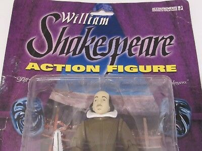 William Shakespeare Action Figure with Removable Quill Pen and Book Writer Gift