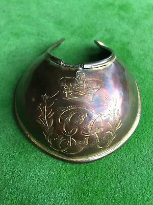 Very Rare War Of 1812 Model 1796 British Officer's Brass Gorget Engraved