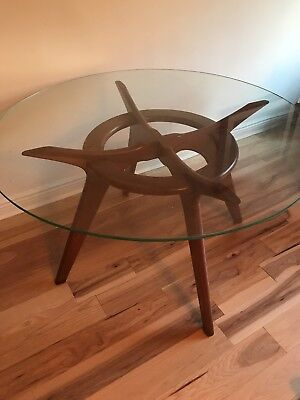Adrain Pearsall Compass Mid Century Modern Glass Top Table see Description
