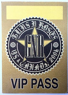 Guns N' Roses 2006 USA And Canada Tour VIP Satin Pass. Chinese Democracy