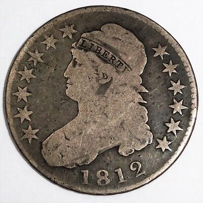 1812 Capped Half Dollar Beautiful Coin Rare Date