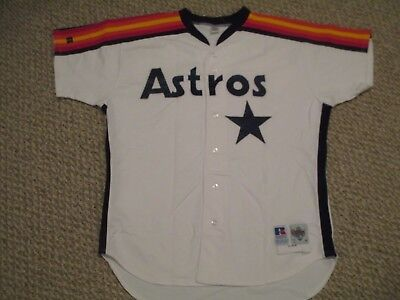 Mark Portugal  size 46 #51 1992 Houston Astros Game Used Jersey Home RAINBOW