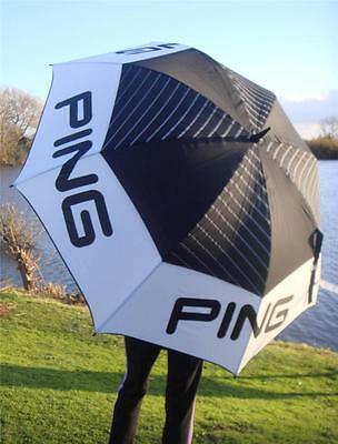 "Ping Golf - Ex Large 68"" Arc Tour Umbrella Plus Free Ping Tour Tees & Ballmarker"