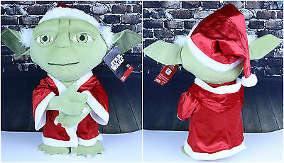 Star Wars Yoda Holiday Greeter 20 Inches Tall Plush Disney Christmas Santa NWT