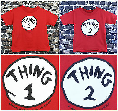 Dr. Seuss Universal Thing 1 & 2 S/S Kids Tshirts size 5/6T and 3T Unisex Premium