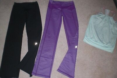 Lot of 2 pair of Girls Ivivva by Lululemon Pants and Tank sz 12
