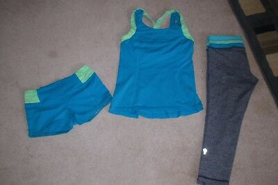 Lot of Girls Ivivva by Lululemon Shorts, Crops and Tank sz 10