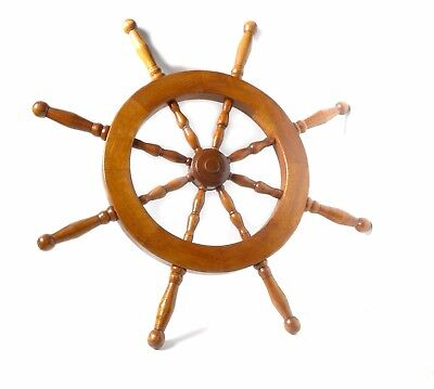 Wheel Steering Ship Nautical Wooden Decor Wall Pirate Wood Vintage Ships 21 in