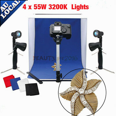 Photography Studio Photo Light Tent 40CM Cube Backdrops Soft Box Lighting Kit AU