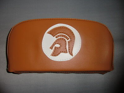 Orange/White Trojan Scooter Back Rest Cover (Purse Style)