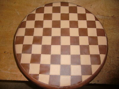 Brown/ Tan Check Scooter Wheel Cover