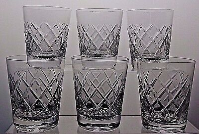 Cut Glass Crystal Drinking Tumblers Glasses Set Of 6