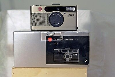Very rare boxed mint Leica Minilux DB exclusive snake skin AF camera