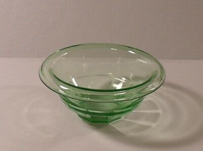"""Anchor Hocking GREEN Depression Glass 5-1/2"""" Bowl EXCELLENT"""