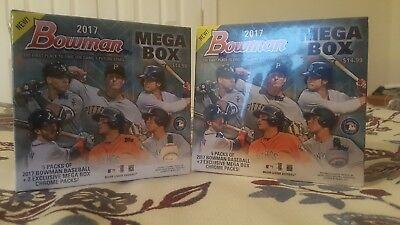 (2) 2017 BOWMAN MEGA BOX Factory Sealed Box Lot JUDGE, OTANI,