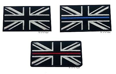 UK BLACK FLAG IRON-ON PATCH UNION JACK Great Britain ENGLAND embroidered