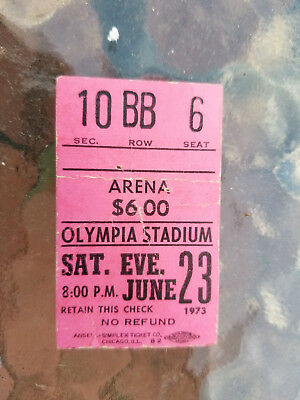 Pink Floyd Concert Ticket Stub Olympia Stadium Detroit Dark Side Of The Moon