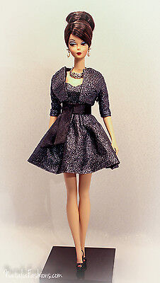 New Black Outfit Barbie Silkstone Fashion Royalty Poppy Parker Doll
