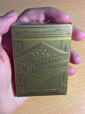 RARE Limited Edition Gold Monarch Playing Cards by Theory11