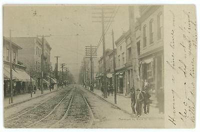 RPPC Main Street View CARNEGIE PA Vintage Allegheny County Real Photo Postcard
