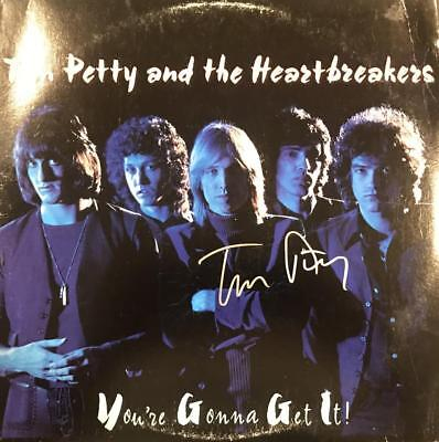Tom Petty signed Lp record with COA great looking autographed album