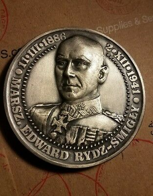 Large Rare Edward Rydz Smigly medal 70mm and 138gr