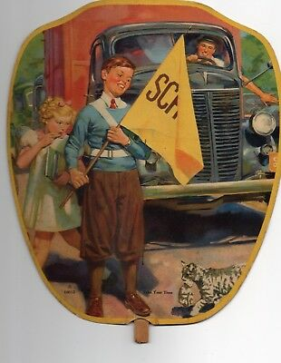 Vintage Paper Hand Fan, KENDALLVILLE, IN, Franklin Security Company