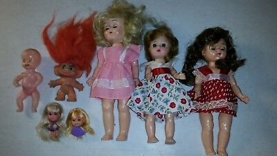 Lot of Small Dolls Liddle Kiddles Ginny Clones Troll