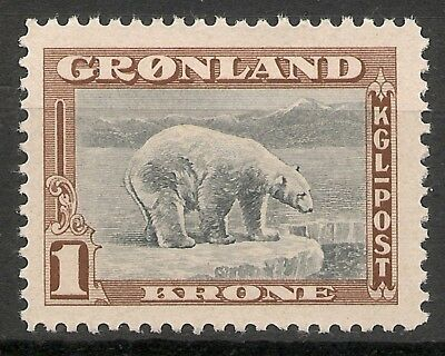 GREENLAND - 1945 American issue 1 Kr  - MNH VF -Facit 16