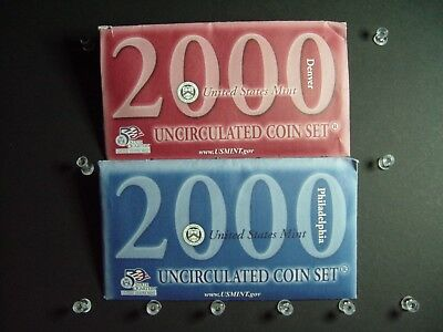 2000 P D Uncirculated United States Mint Set- Set of 20 Coins
