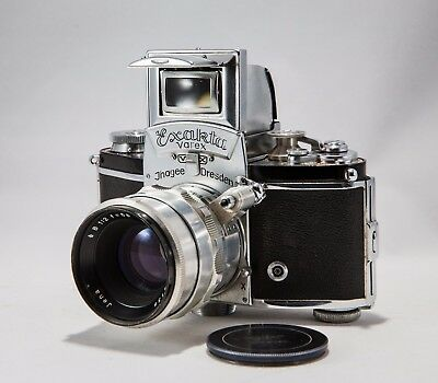 Exakta Varex VX Ihagee Dresden SLR CAMERA from 1955 Vintage with case & lens
