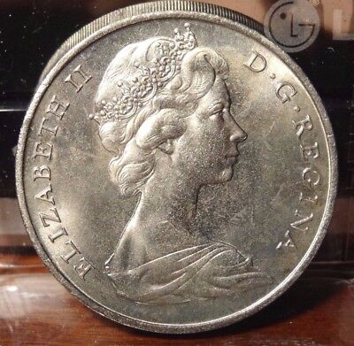 Gibraltar QE II Young Bust Crown Coinage One Crown 1967  Uncirculated KM4
