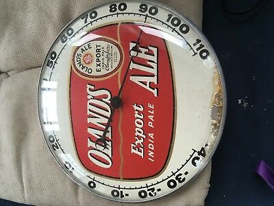 1950s Oland's Export Ale Thermometer