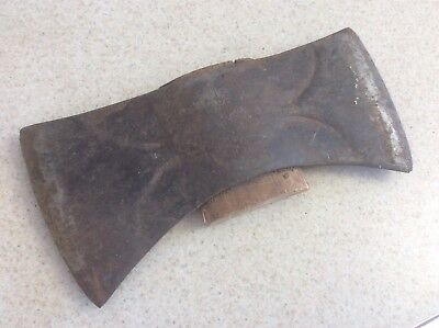 "Vintage Antique Double Bit Axe Head Used Old Tool Wood Logging ""TRUE TPR PERFECT"