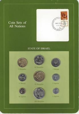 Coin Sets of All Nations - Israel, 9 coin green set