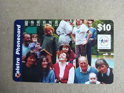 Mint $10 National Family Day Family Group Phonecard Prefix 1543