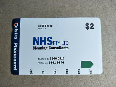 Unused $2 NHS Cleaning Complementary Phonecard Prefix 1393