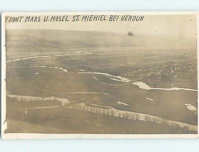 old rppc AERIAL VIEW OF AREA Saint-Mihiel - Lorraine France HM1591