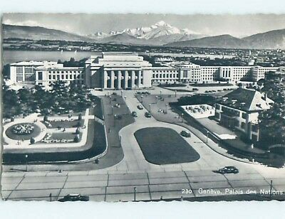 old rppc PALACE OF NATIONS BUILDING Geneva - Geneve Switzerland HM2352