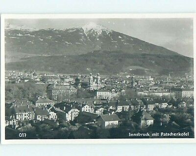 old rppc PANORAMIC VIEW OF TOWN Innsbruck Austria HM2092