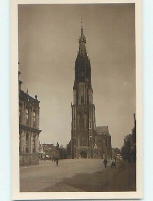 old rppc BUILDINGS AND CLOCK TOWER Delft - South Holland Netherlands HM1514