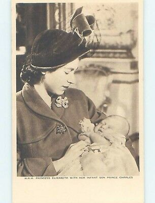 Pre-Chrome BABY PRINCE CHARLES WITH PRINCESS ELIZABETH WHO BECAME QUEEN HL9782