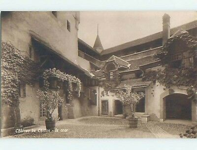 old rppc CHATEAU DE CHILLON Lake Geneva - Veytaux - Vaud Switzerland HM1750