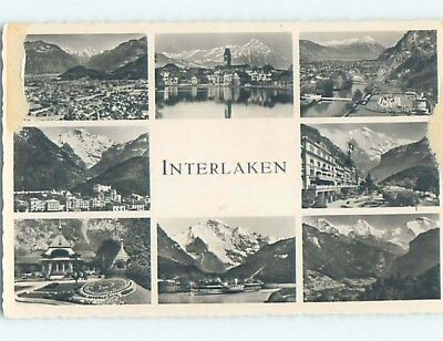 old rppc EIGHT SCENES ON ONE POSTCARD Interlaken Switzerland HM2307