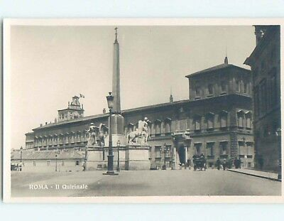 old rppc MONUMENT AND LARGE BUILDING Rome - Roma Italy HM2260